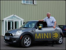 David Beesley with the Mini E