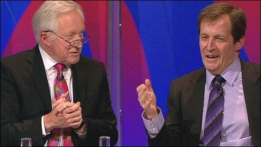 David Dimbleby and Alastair Campbell