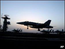 US F-18 jet fighter