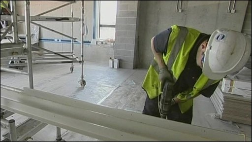 Man doing building work