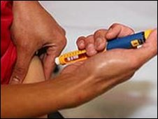 File image of insulin being injected