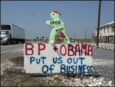 Sign in Grand Isle, Louisiana, 29 May