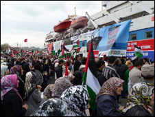Mavi Marmara just before it left Istanbul on 22 May