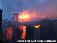 Fire at old barracks in Colchester