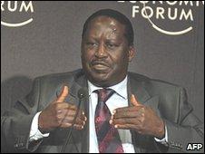 Kenya Prime Minister Raila Odinga