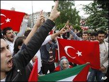 Anti-Israel protest, Sarajevo (31/05/10)