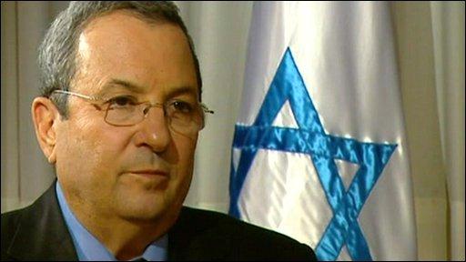 Israel's Defence Minister Ehud Barak