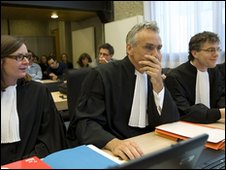 Lawyers for Trafigura in court in Amsterdam, 1 June 2010
