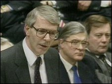 John Major in the House of Commons