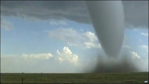 Footage of twister