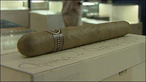 An unsmoked cigar given by Churchill to a friend
