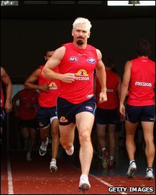 Jason Akermanis of the Western Bulldogs team