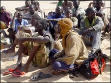 African migrants captured in Libya. / Photo Courtesy of BBC