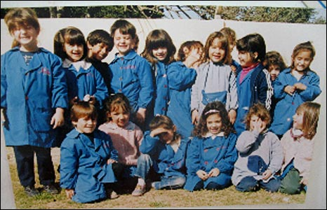 Lionel Messi and classmates at primary school in Rosario - archive photo