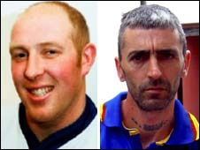 Shooting victims Garry Purdham and Darren Rewcastle