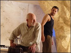 John Shrapnel (Theramene) and Dominic Cooper (Hippolytus)