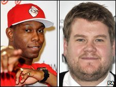 Dizzee Rascal and James Corden
