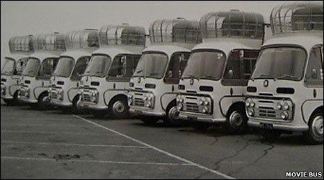 The seven mobile cinemas in 1967