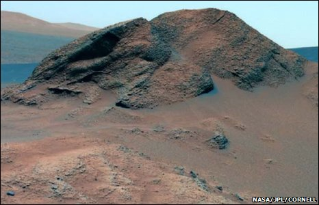 Rocky terrain on Mars