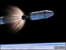 Stage seperation (SpaceX)