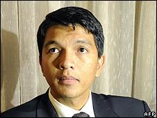 Madagascar army-backed leader Andry Rajoelina