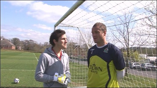 Jon's goalkeeping lesson!