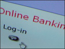 Net bank login screen, BBC