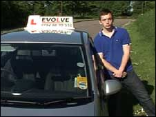 Learner driver Tom Dunn