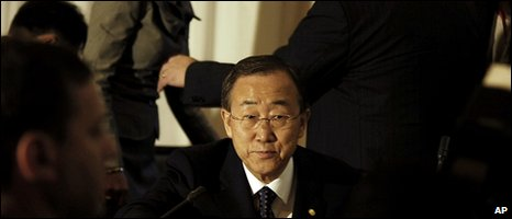UN Secretary-General Ban Ki-moon attends the Review Conference of the Rome Statue organized by the International Criminal Court (ICC) at the Speke Resort in Kampala, Uganda