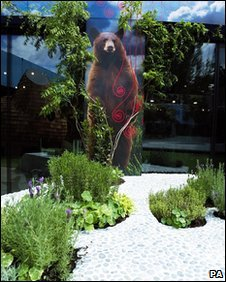Garden view - with bear