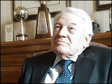 Former Rangers manager David White, the oldest surviving Old Firm manager