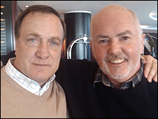 Dick Advocaat and presenter Chick Young