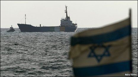 MV Rachel Corrie moored in Ashdod