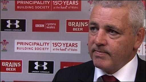 Wales coach Warren Gatland
