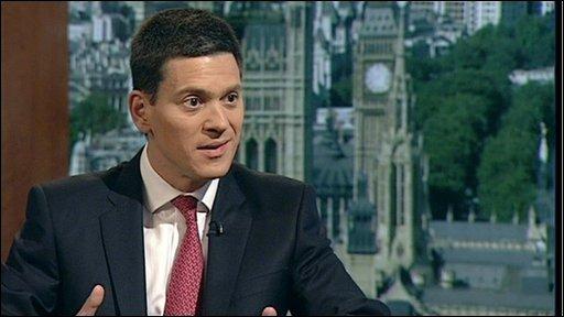 David Miliband, Shadow Foreign Secretary