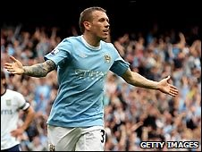 Craig Bellamy of Manchester City