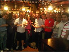 Labour LGBT Society in pub