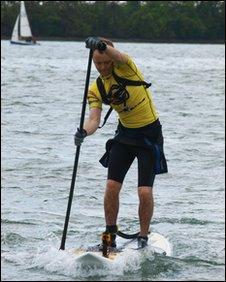 Paddleboarder Matt Argyle