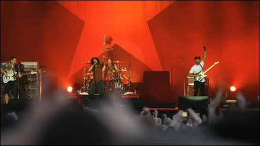 Rage Against the Machine on stage
