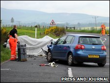 Crash scene [Pic: Press and Journal]