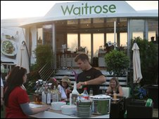 Waitrose cocktail bar at Wychwood