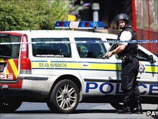 Armed Response Vehicle and officer
