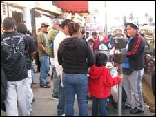 Street vendors at a street in Los Angeles