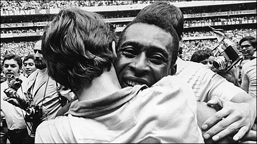 Pele wins the 1970 World Cup