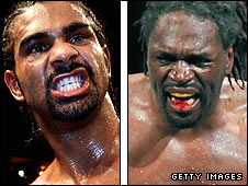 David Haye (left) and Audley Harrison