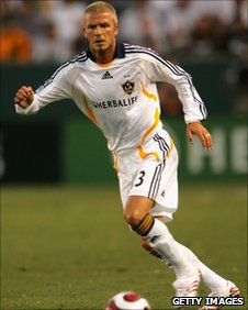David Beckham plays for US Galaxy