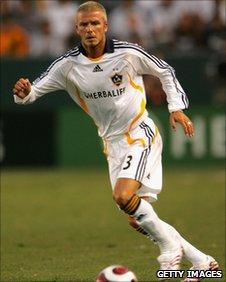 David Beckham plays for US Galaxy