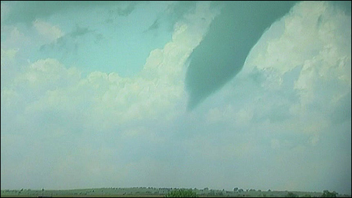 Funnel cloud over Norfolk