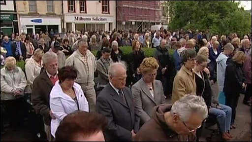 Memorial service held in Whitehaven for victims of Cumbria shootings
