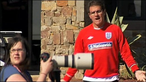Fabio Capello loses his temper with photographers